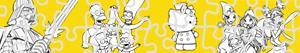 ausmalbilder Zeichentrickfiguren puzzles malvorlagen