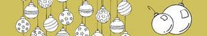 ausmalbilder Christbaumschmuck oder Weihnachtskugeln malvorlagen