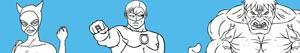 ausmalbilder Superhelden malvorlagen