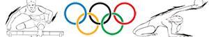 ausmalbilder Olympischen Sport. Leichtathletik. Gymnastik. Mehrkampf malvorlagen